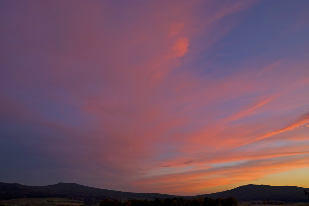Abendhimmel über der Kösseine